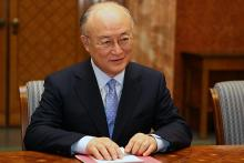 IAEA Director General Yukiya Amano met  the Romanian Prime Minister, Emil Boc, at the Victoria Palace, Bucharest, Romania, 18 May 2010. (Photo: Office of the Prime Minister of Romania)