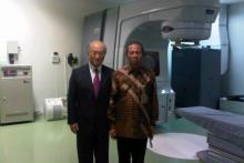 IAEA Director General Yukiya Amano at Dharmais Cancer Hospital Jakarta Indonesia. October 2011.