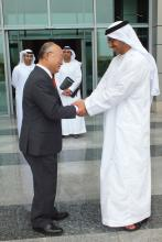 IAEA Director General Yukiya Amano met with Minister of Foreign Affairs, HH Sheikh Abdullah bin Zayed bin Sultan Al Nahyan during the Director General's official trip to the United Arab Emirates. 29 January 2013
