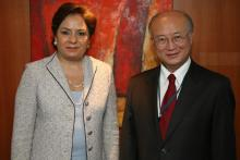 Visit of Ms. Patricia Espinosa, Minister for External Relations of Mexico, to IAEA Director General Yukiya Amano, IAEA, Vienna, Austria, 1 September 2010.
