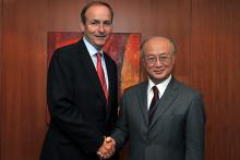 Visit of Mr. Micheal Martin T.D., Minister for Foreign Affairs of Ireland, to IAEA Director General Yukiya Amano, IAEA, Vienna, Austria, 8 September 2010.