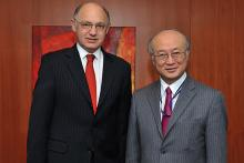 On 21 February 2011, H.E. Mr. Hector Marcos Timerman, Argentine Minister for Foreign Relations, met IAEA Director General Yukiya Amano at the IAEA Headquarters in Vienna, Austria.