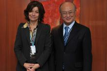 On 14 April 2011, Ms. Carmen Martinez Ten, President of the Spanish Nuclear Safety Council, met IAEA Director General Yukiya Amano at the IAEA's headquarters in Vienna, Austria.