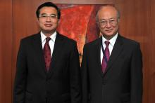 On 24 May 2011, H.E. Mr. Hoang Quoc Vuong, Vice-Minister for Trade and Industry of Vietnam,  met IAEA Director General Yukiya Amano at the IAEA's headquarters in Vienna, Austria.