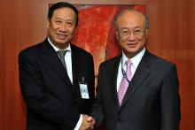On 3 June 2011, H.E. Mr. Pham Gia Kheim, Minister for Foreign Affairs of the Socialist Republic of Vietnam,  met IAEA Director General Yukiya Amano at the IAEA's headquarters in Vienna, Austria.