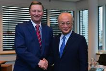 On 30 November 2012, the Head of the Administration of the President of the Russian Federation, HE Mr. Sergey Ivanov met IAEA Director General Yukiya during his Excellency's visit to the IAEA headquarters in Vienna, Austria.