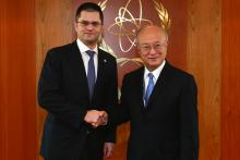 On 28 February 2013, the President of the General Assembly, Mr. Vuk Jeremic met IAEA Director General Yukiya Amano during his visit to the IAEA headquarters in Vienna, Austria.