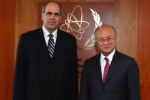 On 7 March 2013, State Secretary of the Ministry of Foreign and European Affairs of the Slovak Republic,  HE. Mr. Peter Burian met IAEA Director General Yukiya Amano during the Minister's visit to the IAEA headquarters in Vienna, Austria.