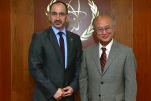 On 23 March 2013, Minister of Industry and Trade of the Czech Republic, HE Mr. Martin Kuba met IAEA Director General Yukiya Amano during the Minister's visit to the IAEA headquarters in Vienna, Austria.