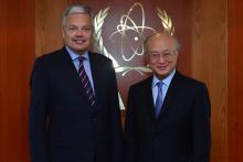 On 13 May 2013, H.E. Mr. Didier Reynders, Deputy Prime Minister and Minister for Foreign Affairs, Foreign Trade and European Affairs of Belgium met IAEA Director General Yukiya Amano during the Minister's visit to the IAEA headquarters in Vienna, Austria.
