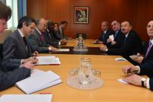 On 14 May 2013, H.E. Mr. Ilham Heydar oglu Aliyev, President of the Republic of Azerbaijan, met IAEA Director General Yukiya Amano during the President's visit to the IAEA headquarters in Vienna, Austria.
