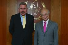 On 14 May 2013, Mr. Peter Faross, Acting Deputy Director-General, European Commission, met IAEA Director General Yukiya Amano during his visit to the IAEA headquarters in Vienna, Austria.