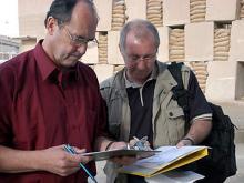 IAEA inspectors check a sulphur phosphate plant. Photo Credits: Pavlicek/IAEA