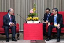 IAEA Director General Yukiya Amano meeting with Mr. He Yu, Chairman of the Board of the China Guangdong Nuclear Corporation, Shenzhen, China, 24 October 2011. (Photo: China Guangdong Nuclear Corporation).