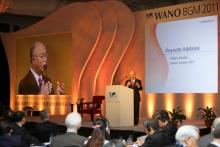 IAEA Director General Yukiya Amano delivering the keynote address at the Biennial General Meeting of the World Association of Nuclear Operators (WANO),  Shenzhen, China, 24 October 2011.