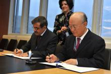 Signing of Agreement between the IAEA and the Government of the Islamic Republic of Pakistan for the Application of Safeguards in Connection with the Supply of Two Nuclear Power Stations from the People's Republic of China. 