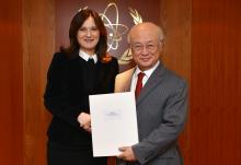 The new Resident Representative of Croatia, Dubravka Plejić-Marković, presented her credentials to IAEA Director General Yukiya Amano in Vienna, Austria on 23 February 2016.