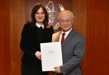 The new Resident Representative of Croatia, Dubravka Plejić-Marković, presented her credentials to IAEA Director General Yukiya Amano in Vienna, Austria on 23 February 2016.