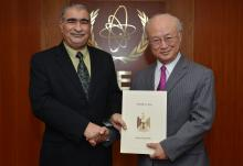 The new Resident Representative of Iraq, Auday Mousa Abdulhadi  Al-Khairallah, presented his credentials to IAEA Director General Yukiya Amano in Vienna, Austria on 10 February 2016.