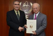 The new Resident Representative of Iraq, Auday Mousa Abdulhadi  Al-Khairallah, presented his credentials to IAEA Director General Yukiya Amano in Vienna, Austria on 10 February 2016.
