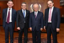 IAEA Director General Yukiya Amano meets Gerassimos Thomas, Deputy Director General for Energy, European Commission, and his delegation on 22 January 2015 at the IAEA Headquarters in Vienna, Austria.