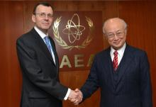 IAEA Director General Yukiya Amano met with Nikolay Spassky, Deputy Director General for International Affairs of the State Atomic Energy Corporation-ROSATOM, on 9 February 2016 at the IAEA headquarters in Vienna, Austria.