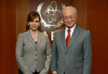 IAEA Director General Yukiya Amano met with Delia Rivas Lobo, Vice Minister of Health of Honduras on 11 February 2016 at the IAEA headquarters in Vienna, Austria.