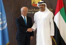 IAEA Director General Yukiya Amano met with His Highness Sheikh Abdullah bin Zayed Al-Nahyan, Minister for Foreign Affairs and International Cooperation of the United Arab Emirates, on 21 February 2016.