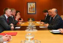 IAEA Director General Yukiya Amano met with Igor Lukšić, Deputy Prime Minister andMinister of Foreign Affairs and European Integration of Montenegro, on 10 March 2016 at the IAEA headquarters in Vienna, Austria.