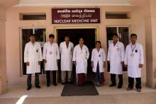 Dr Damayanthi Nanayakkara and her team. Five of the six technologists who currently work at the unit were trained at hospitals and laboratories around the world under the IAEA's technical cooperation fellowship programme.