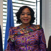 """<br><br>From a 35-year career as an Ambassador of Nigeria to her current position as Director of the IAEA Liaison Office in New York, Vivian Okeke is driven by the ideals of maintaining global peace and accelerating sustainable development.<br><br> The key to her success, she says, is education. With a background in international relations and political science, her motivation is to make a powerful impact on the lives of people. She credits her ability to effectively deal with unexpected challenges – such as the COVID-19 pandemic which coincided with her taking up the IAEA position – to her learned skills, as well as the support of her colleagues and family.<br><br> Vivian's advice to young women and future leaders is to """"let yesterday's struggles build your strength. Make enthusiasm your trademark. Embrace opportunities even if they are clothed in a myriad of challenges."""""""