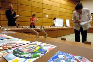Twelve year old, Cheng Cin Min Michelle, from China, has won the IAEA's Children's Painting Competition