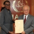 Presentation of credentials by the new Resident Representative of Swaziland, Ms Njabuliso B. Gwebu to IAEA Director General Yukiya Amano. IAEA, Vienna, Austria, 27 November 2014.