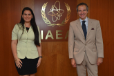 Rafael Mariano Grossi, IAEA Director General, met with Marlen Redondo, Charge d' Affaires Permanent Mission of Cuba, during her official visit at the Agency headquarters in Vienna, Austria. 23 July 2021.