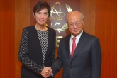 IAEA Director General Yukiya Amano met with Josephine Teo, Senior Minister of State of Singapore, at the Agency headquarters in Vienna, Austria. 3 October 2016