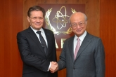 IAEA Director General Yukiya Amano met with Alexey Likhachev, Director General of ROSATOM, at the IAEA headquarters in Vienna, Austria on 19 April 2017.