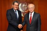 IAEA Director General Yukiya Amano met with Jaime Alfredo Miranda Flamenco, Deputy Minister of Foreign Affairs of El Salvador, at the IAEA headquarters in Vienna, Austria on 29 May 2017.