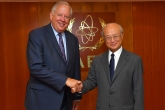 IAEA Director General Yukiya Amano met with Thomas A. Shannon Jr., Under Secretary for Political Affairs of the United States of America at the IAEA headquarters in Vienna, Austria on 20 July 2017.