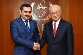 IAEA Director General Yukiya Amano met with Muzaffar Huseynzoda, Deputy Minister of Foreign Affairs of Tajikistan, at the IAEA headquarters in Vienna, Austria on 18 October 2017.
