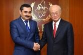 IAEA Director General Yukiya Amano met with Muzaffar Huseynzoda, Deputy Minister of Foreign Affairs of Tajikistan, at the IAEA headquarters in Vienna, Austria on 18 October 2017.