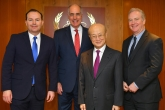 IAEA Director General Yukiya Amano met with United States Senators Mike Lee of Utah, Bob Casey Jr. of Pennsylvania, and Chris Van Hollen of Maryland, during their official visit at the Agency headquarters in Vienna, Austria on 22 February 2019