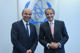 Rafael Mariano Grossi, IAEA Director General, met with Mr. Marcos Sampaio Olsen, Director General, Nuclear Technological Development, Fleet Admiral and Navy Commander of Brazil, during his official visit at the Agency headquarters in Vienna, Austria. 17 September 2021.