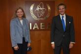 Rafael Mariano Grossi, IAEA Director-General, met with Ambassador Erica Bark-Ruggles, Senior Bureau Official, Bureau on International Organization Affairs, during her official visit at the Agency headquarters in Vienna, Austria. 25 October 2021.