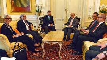 IAEA Director General  and US Secretary of State John Kerry Meet on Iran Negotiations