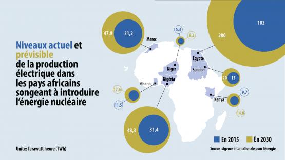 Niveaux actuel et prévisible de la production électrique - Afrique