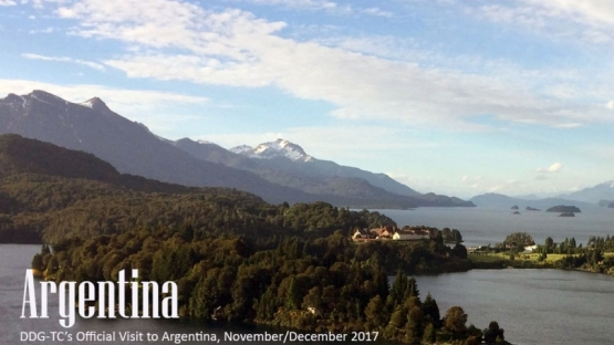 DDG-TC's Official Visit to Argentina, November/December 2017. Photo: CNEA. Bariloche, Argentina, 29 November 2017.