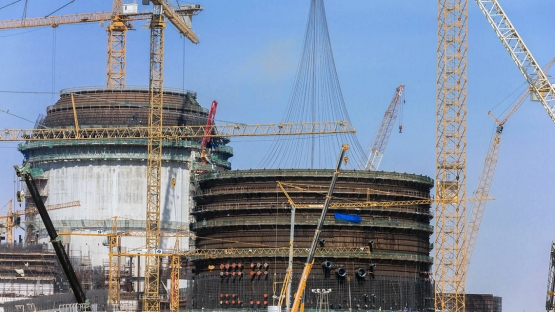 Construction works at Units 1 and 2 of the Barakah nuclear power plant in the UAE, August 2014. (Photo: ENEC)