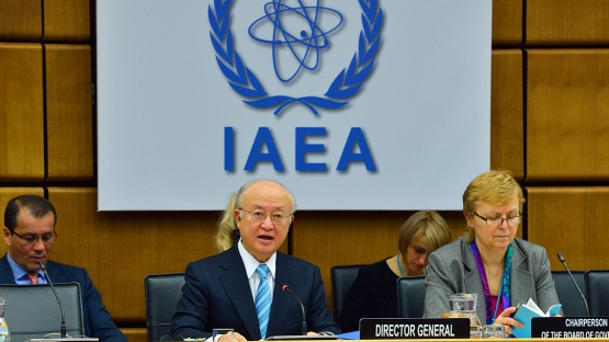 IAEA Director General Yukiya Amano addresses the Board of Governors, 2 March 2015
