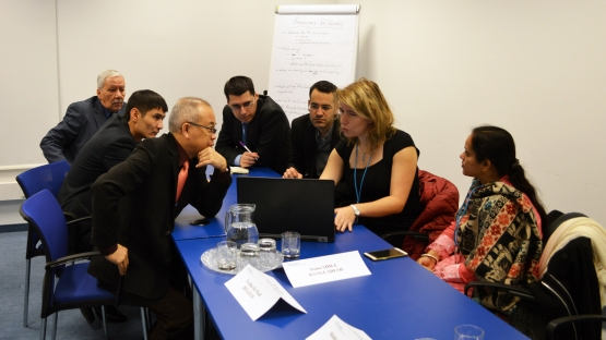 Participants of an IAEA workshop discuss the systemic approach to safety