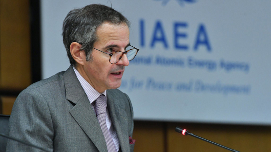 IAEA Director General Rafael Mariano Grossi announces the First International Conference on Nuclear Law during his opening statement at the November 2020 meeting of the Board of Governors
